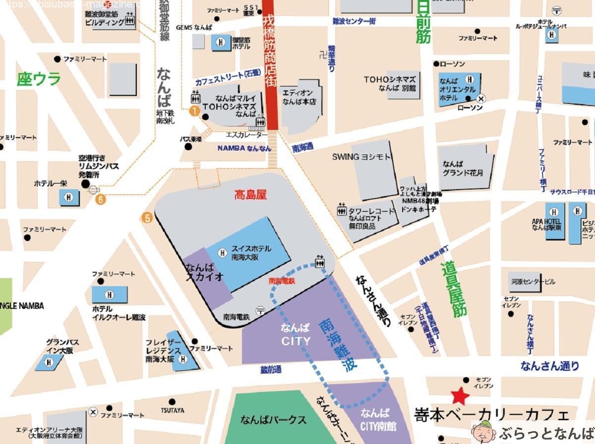 嵜本ベーカリーカフェ広域地図