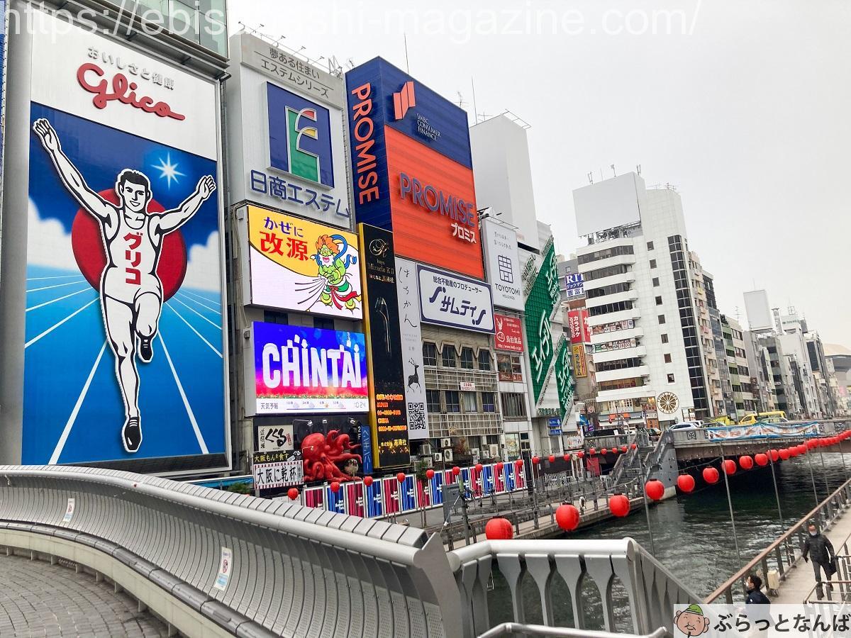 大阪 グリコの看板