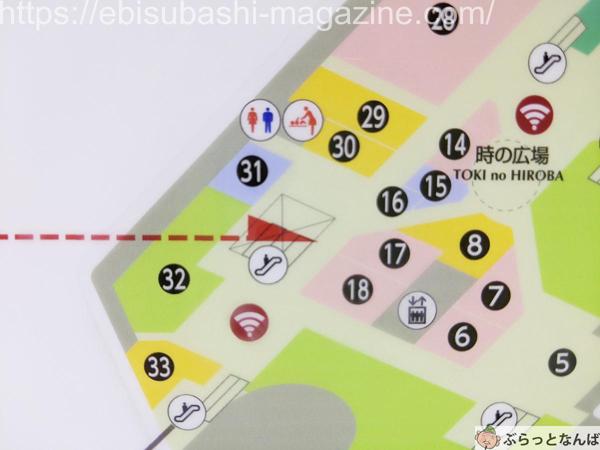 なんばCITY 地図